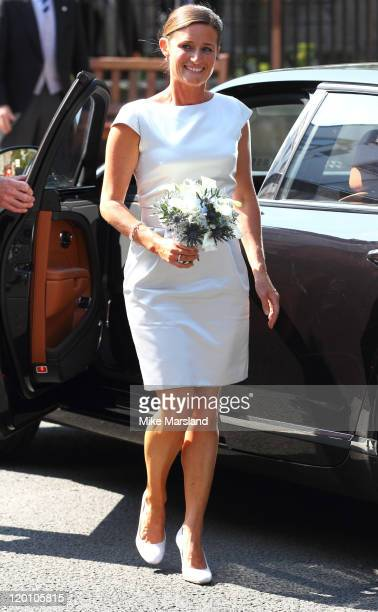 Dolly Maude arrives for the Royal wedding of Zara Phillips and Mike Tindall at Canongate Kirk on July 30 2011 in Edinburgh Scotland The Queen's...