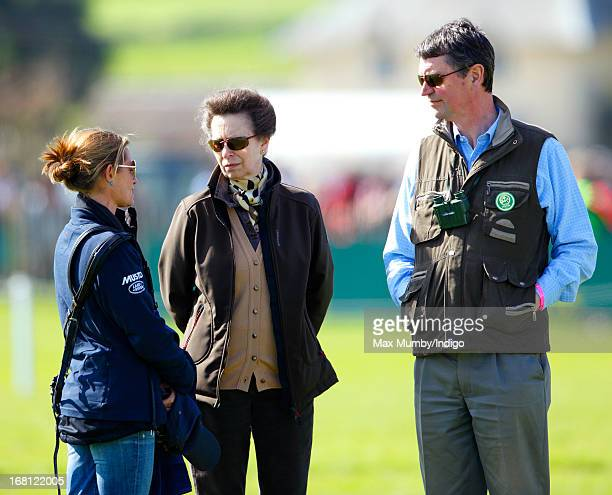 Dolly Maude Princess Anne The Princess Royal and Vice Admiral Sir Timothy Laurence attend day 4 of the Badminton Horse Trials on May 5 2013 in...