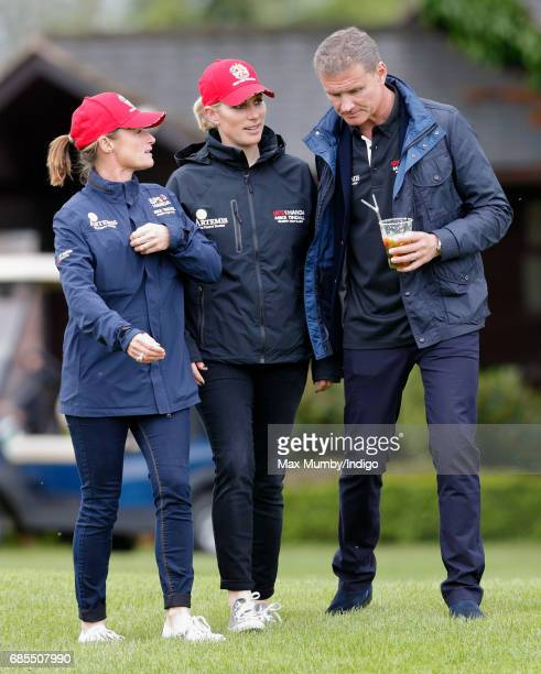 Dolly Maude Zara Phillips and David Coulthard attend the 5th edition of the 'ISPS Handa Mike Tindall Celebrity Golf Classic' at The Belfry on May 19...