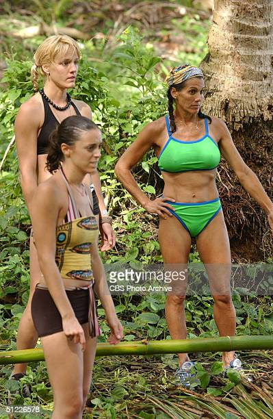 Dolly Neely Eliza Orlins and Lisa Keiffer appear in the first episode of 'Survivor Vanuatu Islands of Fire' premiering Thursday Sept 16th 800900pm on...