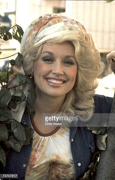 Dolly Parton 1977 during Dolly Parton File Photos in London, California.