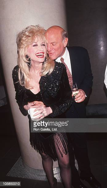 Dolly Parton and Barry Diller during Shining Through New York City Premiere at Ziegfeld Theater in New York City New York United States