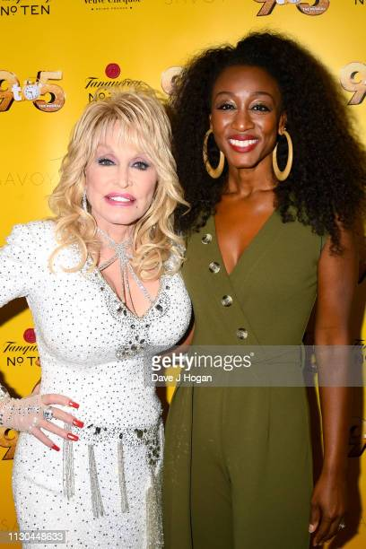 Dolly Parton and Beverley Knight attend '9 To 5' The Musical at The Savoy Theatre on February 17 2019 in London England