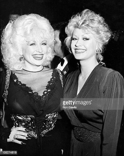 Dolly Parton and Rachel Dennison during 1981 Carousel Ball Benefiting the Childrens Diabetes Foundation in Denver at Carousel Ball in Denver Colorado...