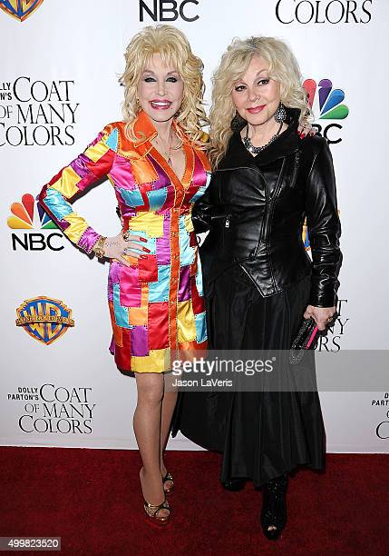 Dolly Parton and Stella Parton attend the premiere of Dolly Parton's Coat Of Many Colors at the Egyptian Theatre on December 2 2015 in Hollywood...