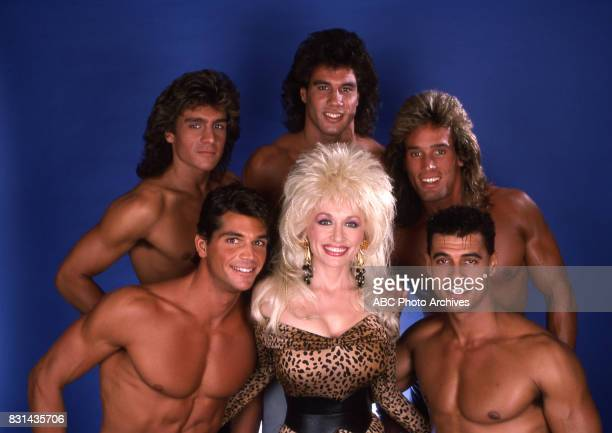 Dolly Parton and The Chippendales on 'Dolly' in 1987