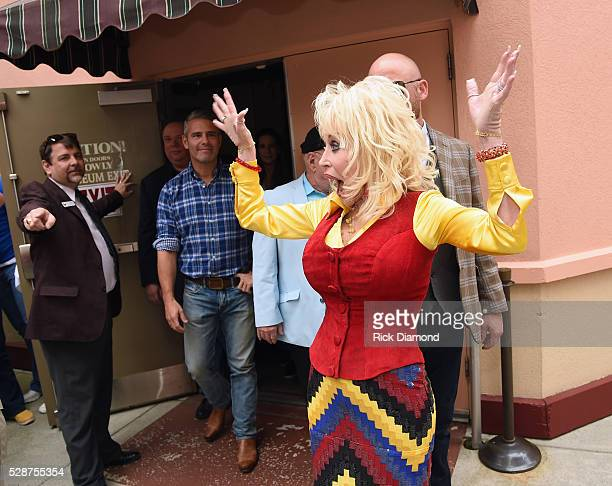 Dolly Parton Answers Questions During SiriusXM's Town Hall Series Hosted By Andy Cohen At Dollywood in the Dollywood Dreamsong Theatre on May 6 2016...