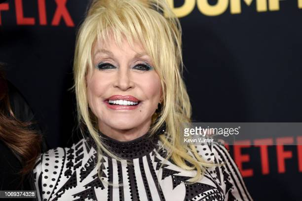 "Dolly Parton arrives at the premiere of Netflix's ""Dumplin'"" at the Chinese Theater on December 6, 2018 in Los Angeles, California."