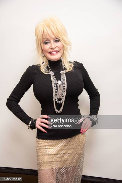 Dolly Parton at the Dumplin' Press Conference at the Four Seasons Hotel on October 22 2018 in Beverly Hills California