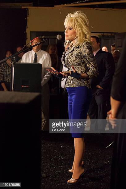 Dolly Parton attends An Evening With Dolly Gold Celebration at Dolly Records/CTK Management on August 10 2012 in Nashville Tennessee