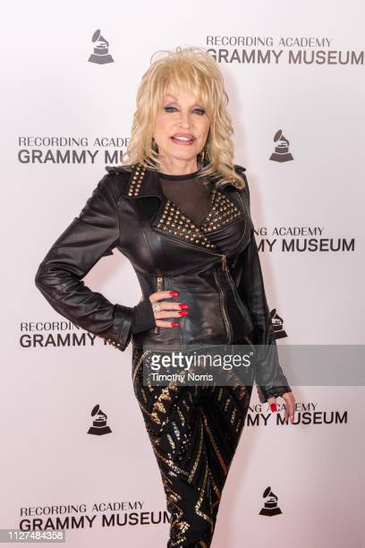 Dolly Parton attends Dolly Parton Town Hall Program at The GRAMMY Museum on February 06 2019 in Los Angeles California