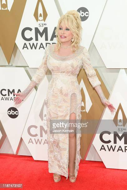 Dolly Parton attends the 53rd annual CMA Awards at the Music City Center on November 13 2019 in Nashville Tennessee