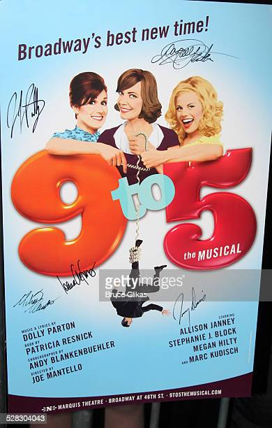 Dolly Parton autographed poster as she meets her fans at her hit new musical 9 To 5 on Broadway at the Marquis Theater on April 14 2009 in New York...