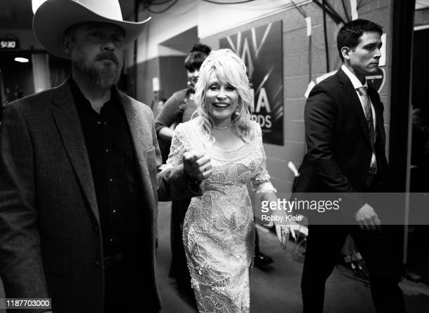 Dolly Parton backstage at the 53rd annual CMA Awards at Bridgestone Arena on November 13 2019 in Nashville Tennessee