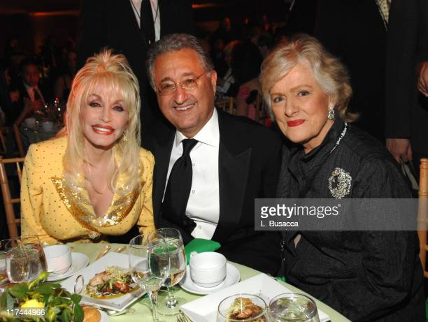 Dolly Parton Del Bryant and Frances Preston during 38th Annual Songwriters Hall of Fame Ceremony Cocktails and Backstage at Marriott Marquis in New...