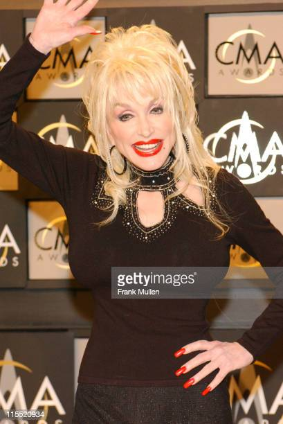 Dolly Parton during 38th Annual Country Music Awards Press Room at Grand Ole Opry House in Nashville Tennessee United States