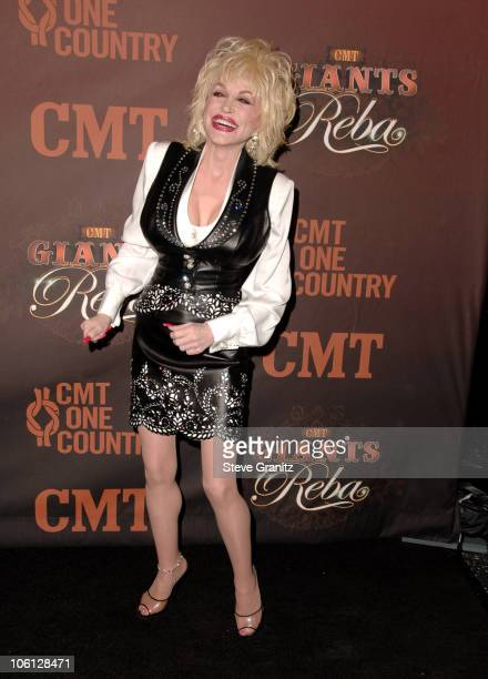 Dolly Parton during CMT Giants Honoring Reba McEntire Arrivals at Kodak Theatre in Hollywood California United States