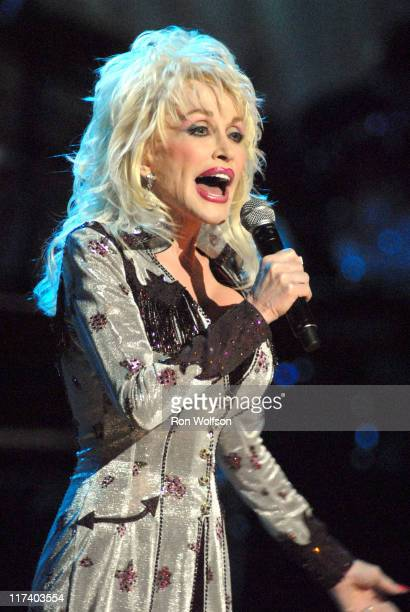 Dolly Parton during CMT Giants Honoring Reba McEntire - Show at Kodak Theater in Los Angeles, California, United States.