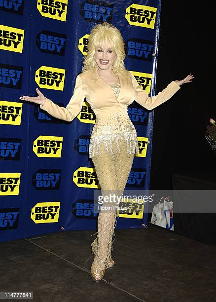 Dolly Parton during Dolly Parton Launches Her Album 'Those Were The Days' at Midtown Best Buy in New York City New York United States