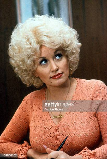 Dolly Parton in a scene from the film 'Nine To Five' 1980