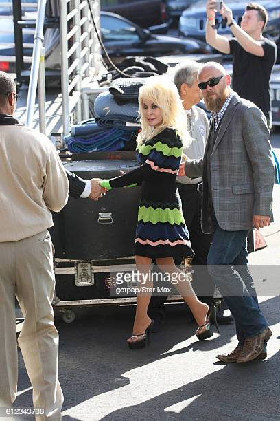 Dolly Parton is seen on Jimmy Kimmel Live on October 3 2016 in Los Angeles California