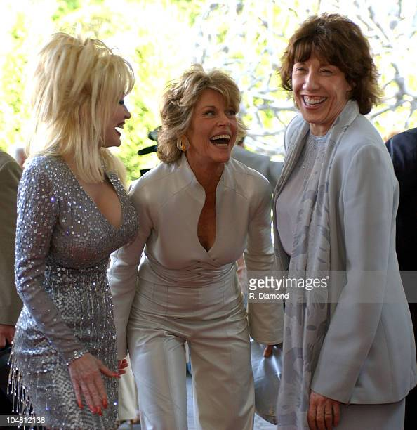 Dolly Parton Jane Fonda and Lily Tomlin during GCAPP'S The Retro Premier of 9 to 5 Live Auction at Woodruff Arts Center in Atlanta Georgia United...