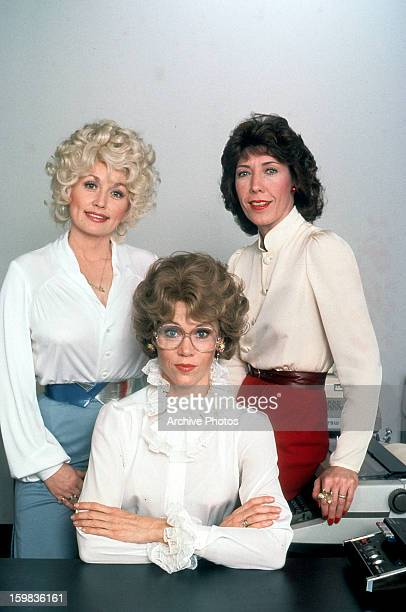 Dolly Parton Jane Fonda and Lily Tomlin in publicity portrait for the film 'Nine To Five' 1980