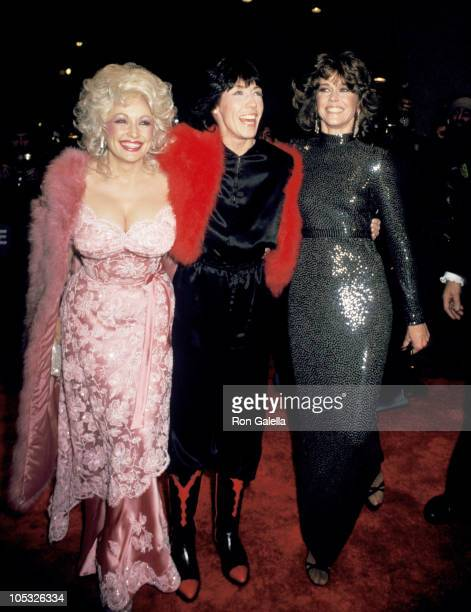 Dolly Parton Lily Tomlin and Jane Fonda during Nine to Five New York City Premiere After Party at Luchows in New York City New York United States