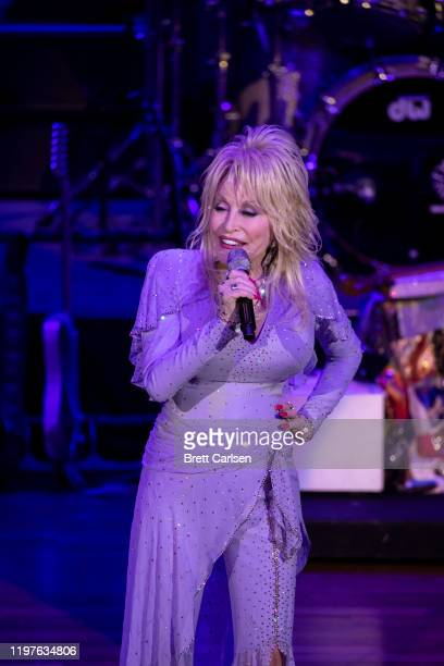 Dolly Parton performs during The Gift Of Music Concert at Ryman Auditorium on January 30 2020 in Nashville Tennessee