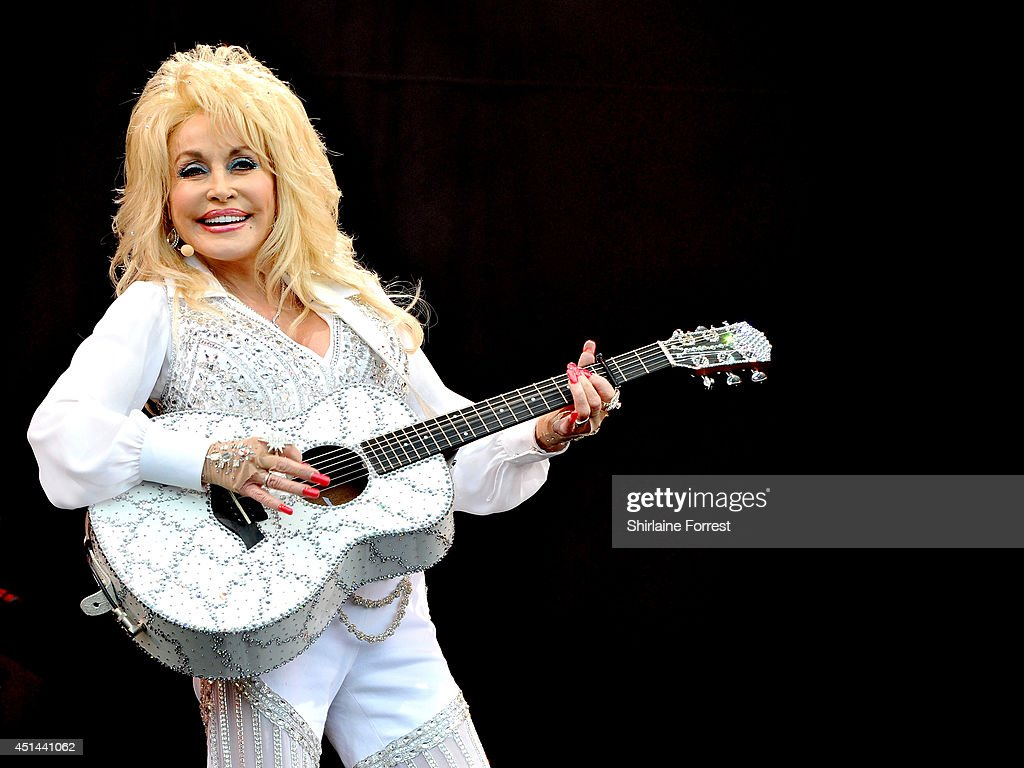 Dolly Parton performs on The Pyramid Stage on Day 3 of the Glastonbury Festival at Worthy Farm on June 29, 2014 in Glastonbury, England.