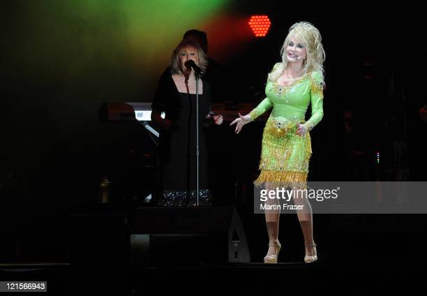 Dolly Parton performs the first of her two soldout shows at SECC on August 20 2011 in Glasgow Scotland