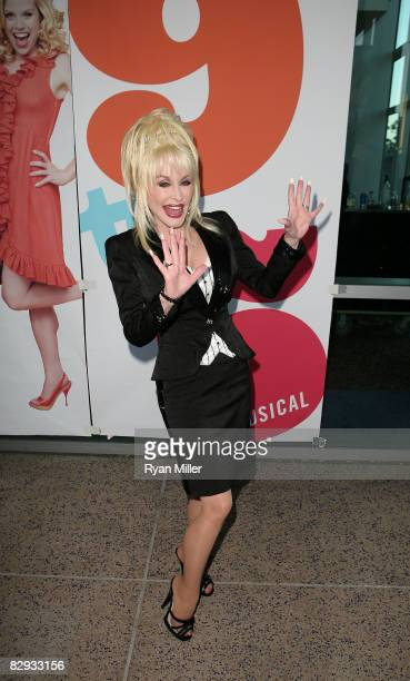Dolly Parton poses during the arrivals for the world premiere of of 9 to 5 The Musical at Center Theatre Group's Ahmanson Theatre on September 20 in...
