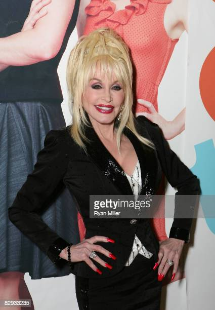 Dolly Parton poses during the party for the world premiere of of 9 to 5 The Musical at Center Theatre Group's Ahmanson Theatre on September 20 in Los...