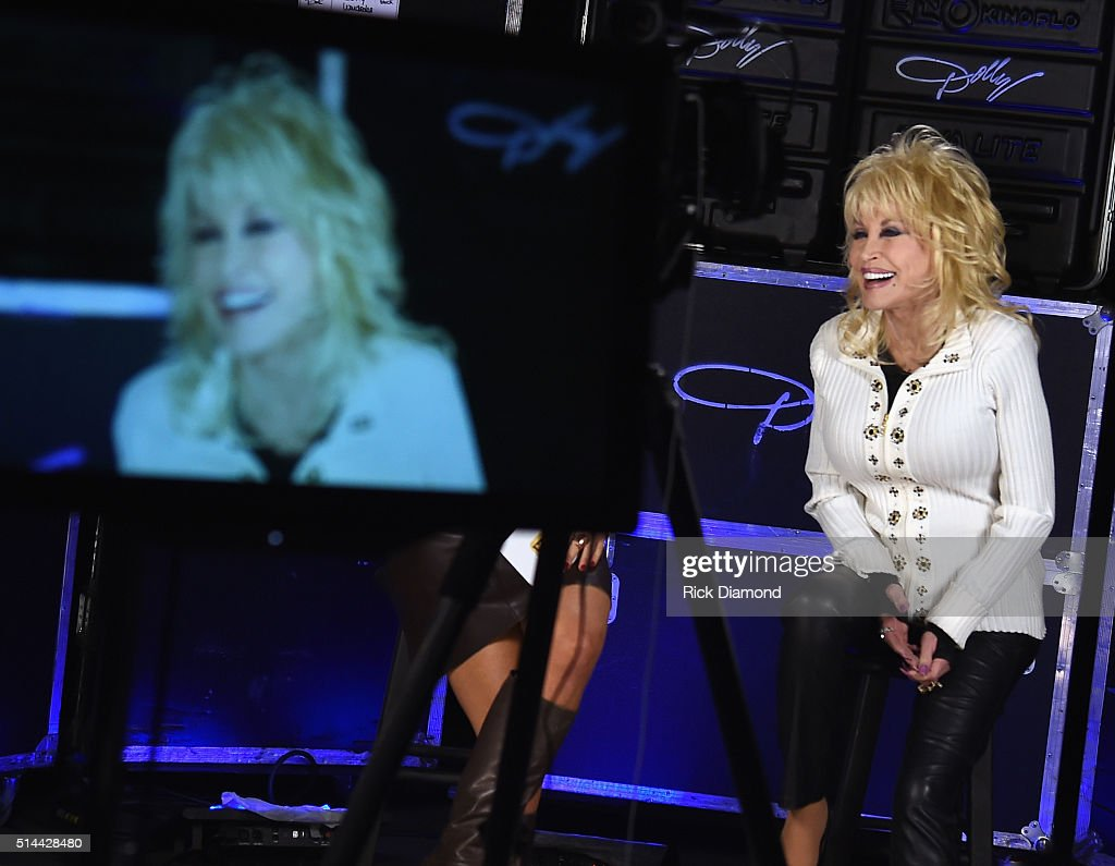 Dolly Parton press day. Dolly talking about her 2016 North American tour Dolly's largest tour in 25 years, Performing in over 60 cities also her New double disc album 'Biggest Hits' At NOVE Entertainment on March 8, 2016 in Nashville, Tennessee.