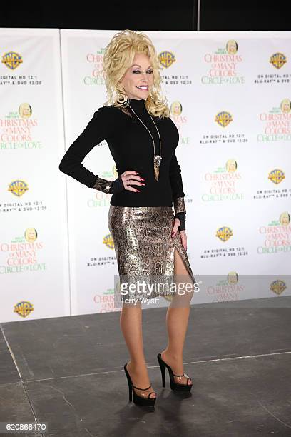 Dolly Parton speaks during a press conference for the DVD release of Dolly Parton's Christmas Of Many Colors Circle Of Love on November 3 2016 in...