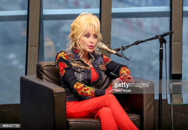 Dolly Parton speaks during SiriusXM presents Dolly Parton On Kids Place Live at Nashville Music City Theatre On October 9 2017 on October 9 2017 in...