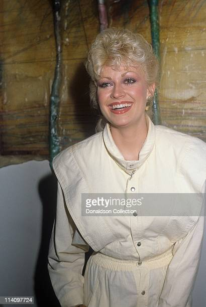Dolly Parton's younger sister Rachel Dennison poses for a portrait in c1985 in Los Angeles California