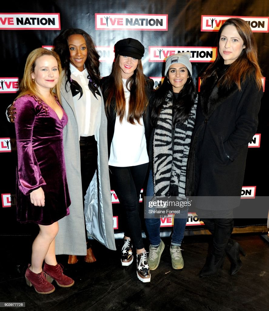 Dolly Rose Campbell, Victoria Ekanoye, Brooke Vincent, Sair Khan and Nicola Thorp attend Chris Rock's celebrity gala on the opening night of his UK tour at Manchester Arena on January 11, 2018 in Manchester, England.