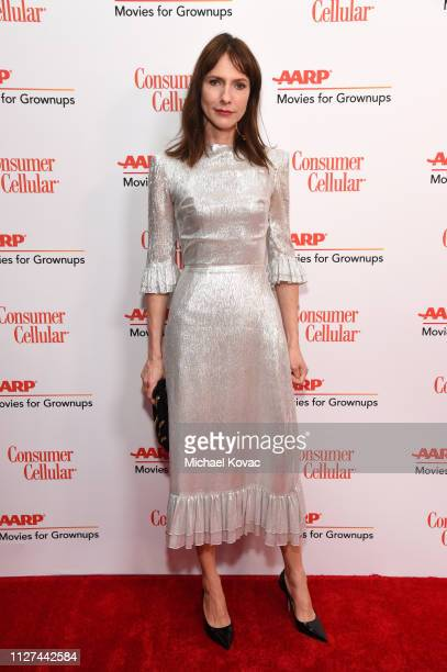 Dolly Wells attends AARP The Magazine's 18th Annual Movies for Grownups Awards at the Beverly Wilshire Four Seasons Hotel on February 04 2019 in...