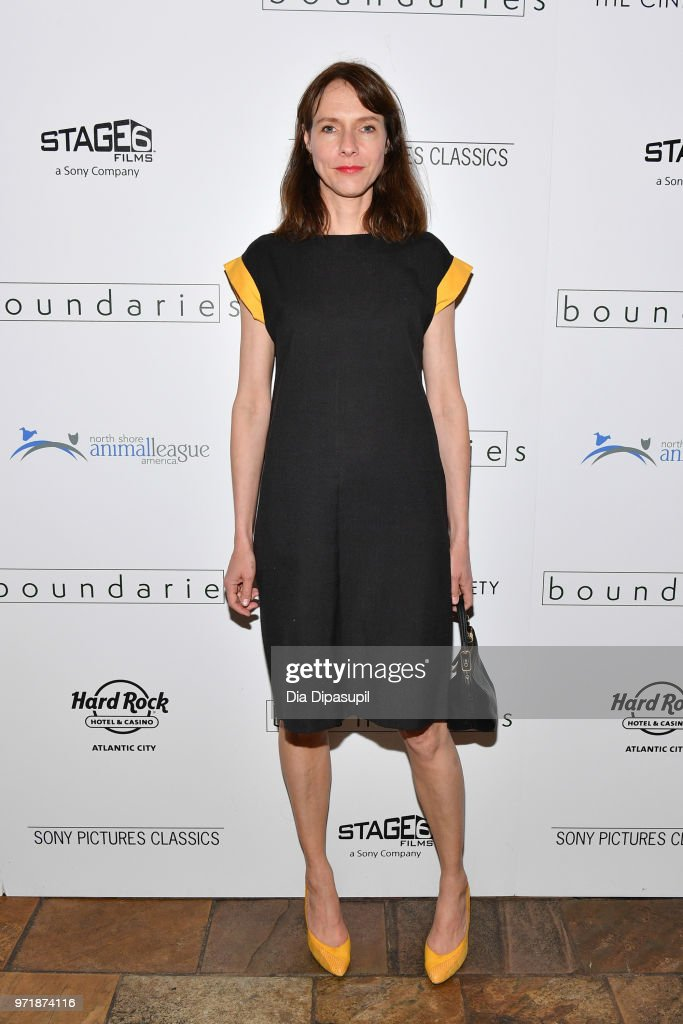 Dolly Wells attends the 'Boundaries' New York screening at The Roxy Cinema on June 11, 2018 in New York City.
