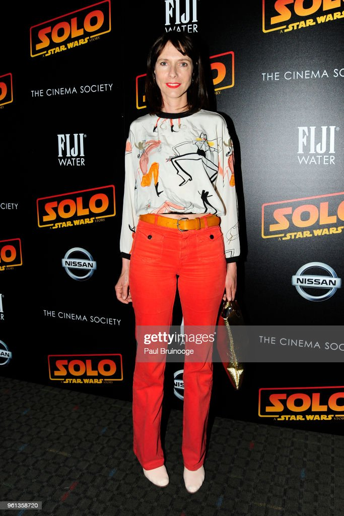 Dolly Wells attends The Cinema Society With Nissan & FIJI Water Host A Screening Of 'Solo: A Star Wars Story' at SVA Theatre on May 21, 2018 in New York City.