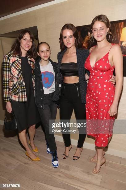 Dolly Wells, Grace Van Patten and Anna Van Patten attend The Cinema Society With Hard Rock Hotel & Casino Atlantic City And North Shore Animal League...