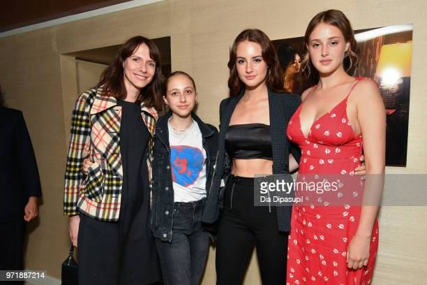 """Dolly Wells, guest, Grace Van Patten, and Anna Van Patten attend the """"Boundaries"""" New York screening after party at The Roxy Cinema on June 11, 2018..."""