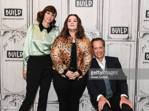 Dolly Wells Melissa McCarthy and Richard E Grant attend the Build Series to discuss the new film 'Can You Ever Forgive Me' at Build Studio on October...