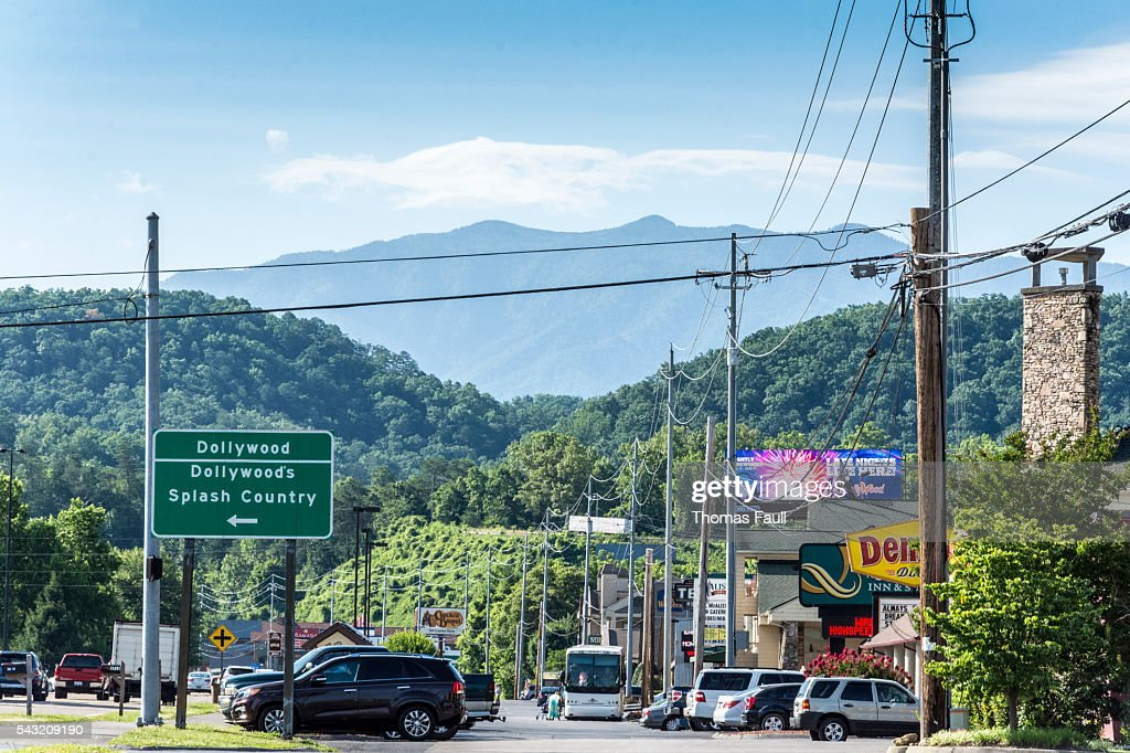 Dollywood Sign in Pigeon Forge : Stock Photo