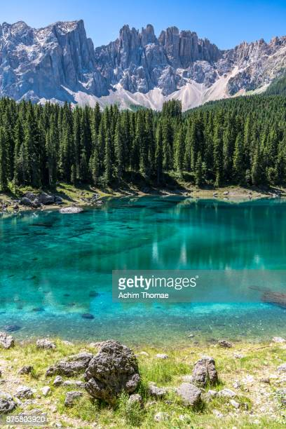 Dolomite Alps, Lago Carezza, South Tyrol, Italy, Europe