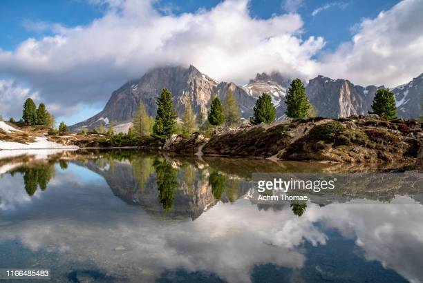 dolomite alps, panorama, south tyrol, italy, europe - alta badia stock pictures, royalty-free photos & images
