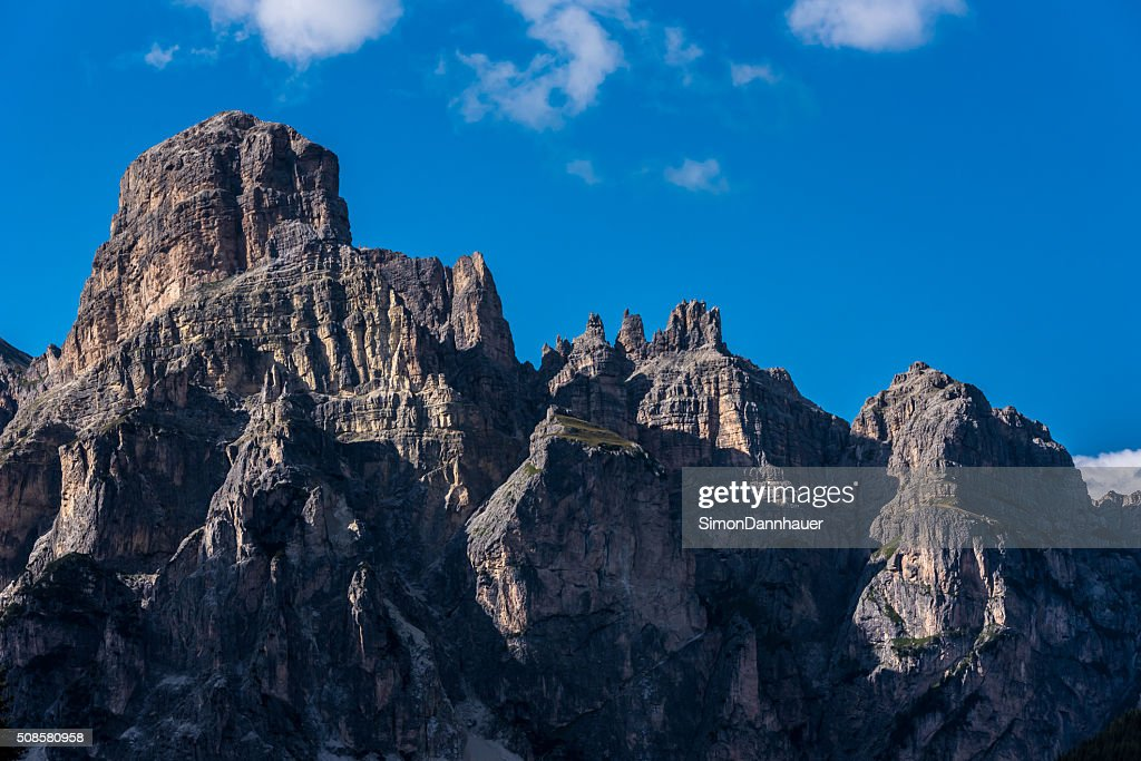 Dolomites Italy - Mountains of Passo Sella : Stock Photo
