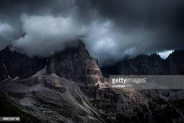 Dolomites of Brenta Rock Wall, Italy