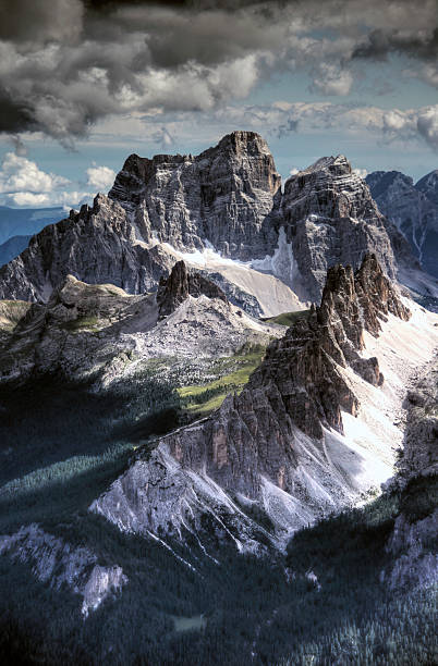 Dolomites Peaks View From Lagazuoi Mountain Wall Art